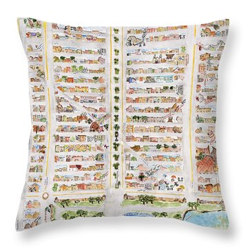 The Harlem Map Throw Pillow