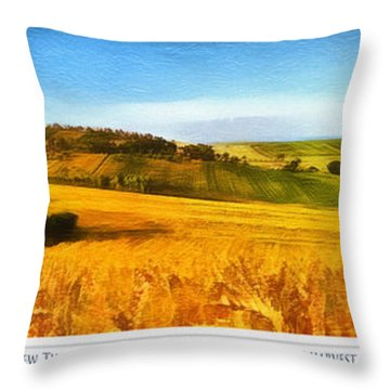 The Harvest Is Plentiful Throw Pillow by Dale Jackson