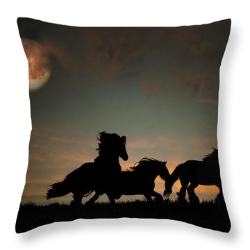 The Harvest Moon Throw Pillow