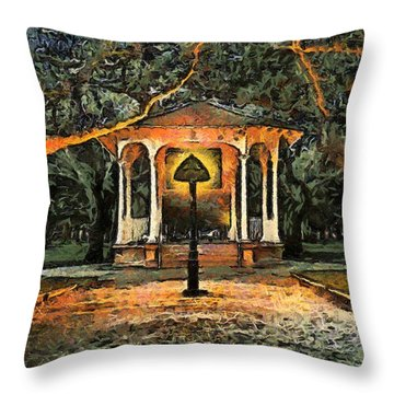 The Haunted Gazebo Throw Pillow