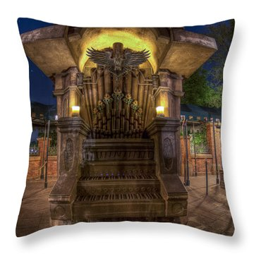 The Haunted Organ Throw Pillow