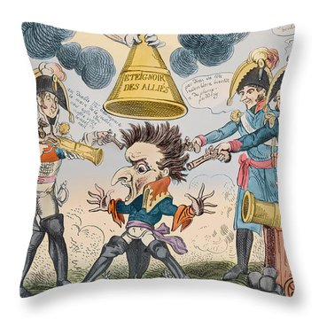 The Head Of The Great Nation In A Queer Situation Throw Pillow