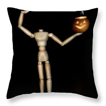 The Headless Woody Throw Pillow