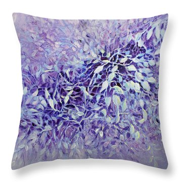 Throw Pillow featuring the painting The Healing Power Of Amethyst by Joanne Smoley