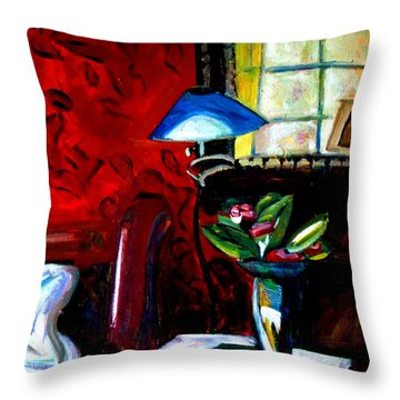 Throw Pillow featuring the painting The Healing Room by Charlie Spear