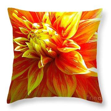 The Heart Of A Dahlia #2 Throw Pillow
