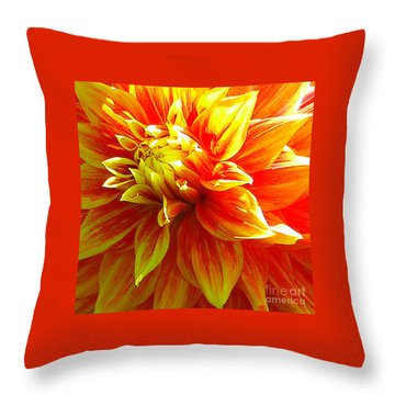 The Heart Of A Dahlia #2 Throw Pillow