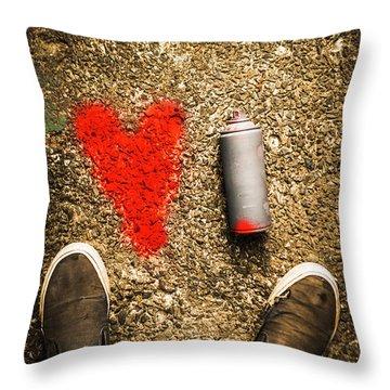 The Heart Of A Vandal Throw Pillow