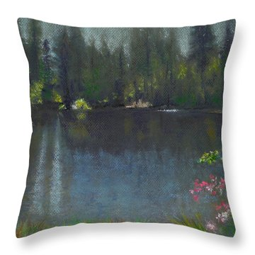 The Heart Of California Throw Pillow