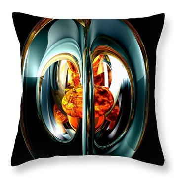 The Heart Of Chaos Abstract Throw Pillow by Alexander Butler