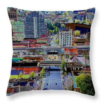 Throw Pillow featuring the photograph The Heart Of Downtown Spokane  by Ben Upham III