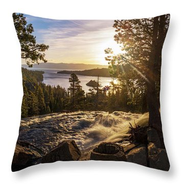 The Heart Of Eagle Falls By Brad Scott Throw Pillow