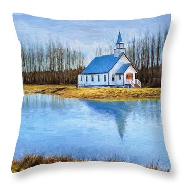 The Heart Of It All - Landscape Art Throw Pillow