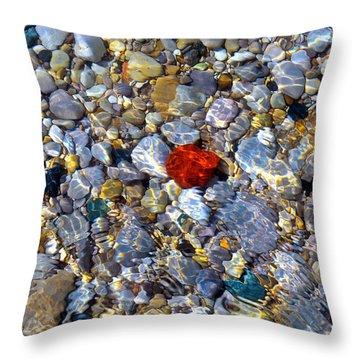 The Heart Of Lake Michigan Throw Pillow
