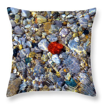Throw Pillow featuring the photograph The Heart Of Lake Michigan by SimplyCMB