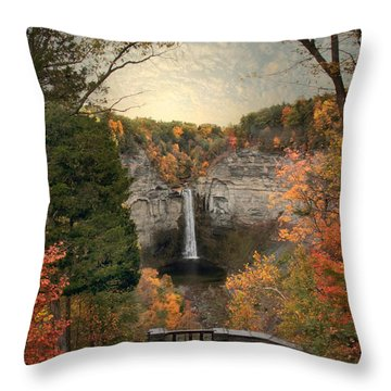 The Heart Of Taughannock Throw Pillow