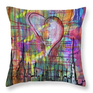 The Heart Of The City Throw Pillow