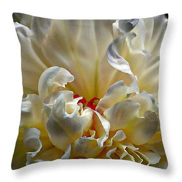 The Heart Of The Peony Throw Pillow