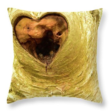 The Heart Of The Tree Throw Pillow