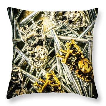 The Heart Repair Factory Throw Pillow