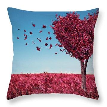 The Heart Tree Throw Pillow
