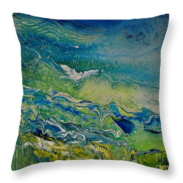 The Heavens And The Eart Throw Pillow