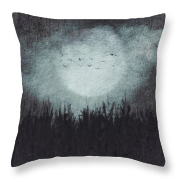 The Heavy Moon Throw Pillow