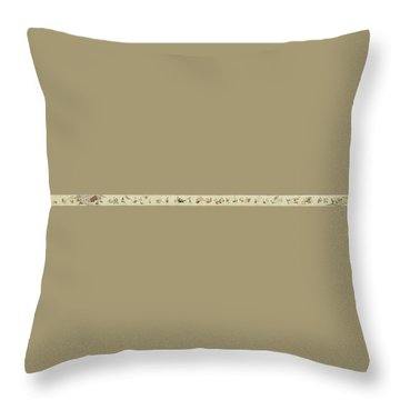 Throw Pillow featuring the painting The Hegassen Scroll by Celestial Images
