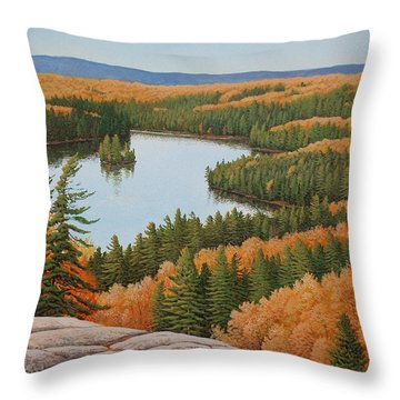 The Height Of Autumn Throw Pillow