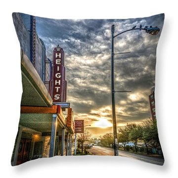 The Heights At Morning Light Throw Pillow