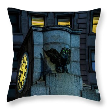 The Herald Square Owl Throw Pillow