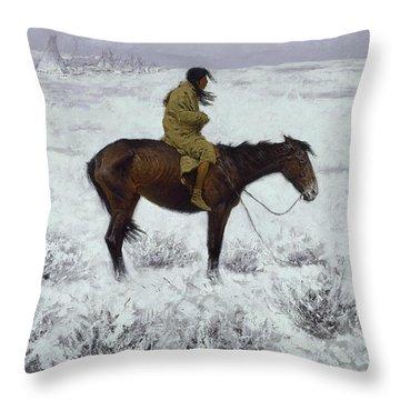 The Herd Boy Throw Pillow
