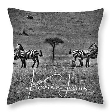 Throw Pillow featuring the photograph The Herd by Karen Lewis