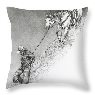 The Herdsman Throw Pillow