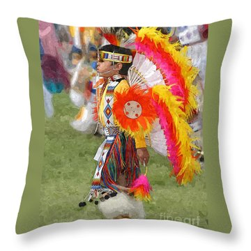 The Heritage Lives On Throw Pillow