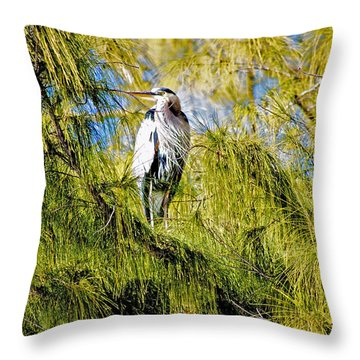 The Heron's Whiskers Throw Pillow