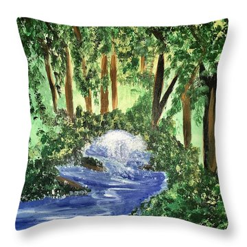 The Hidden Forest Throw Pillow by Angela Holmes