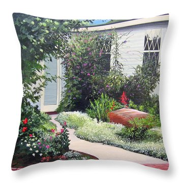 The Hidden Garden Throw Pillow