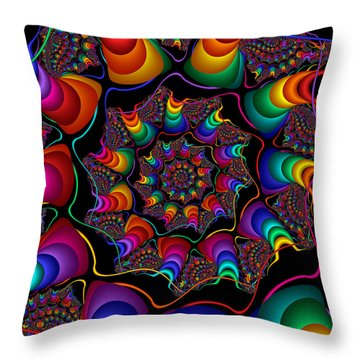 Helicoids Throw Pillow