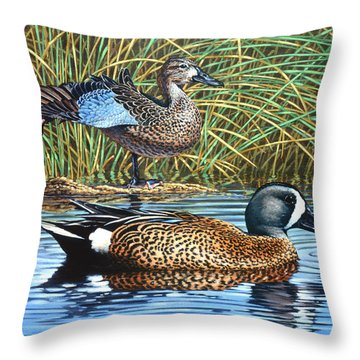 The Hide-away Throw Pillow by Richard De Wolfe