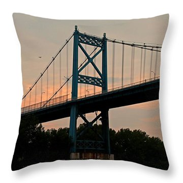 The High Level Aka Anthony Wayne Bridge I Throw Pillow