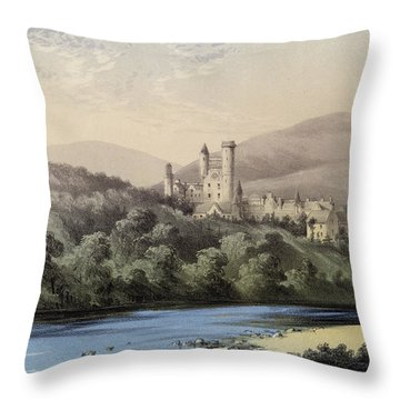 The Highland Home, Balmoral Castle Throw Pillow by English School