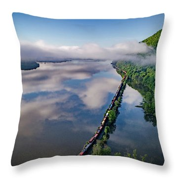 The Highlands Looking South Throw Pillow