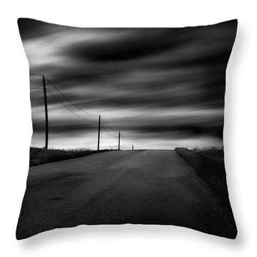 The Highway Throw Pillow by Dan Jurak