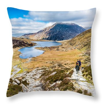 Throw Pillow featuring the photograph The Hike Back Down by Nick Bywater