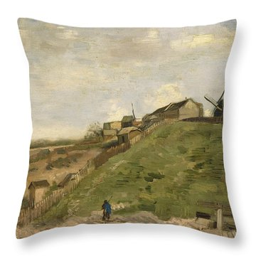 The Hill Of Montmartre With Stone Quarry Throw Pillow