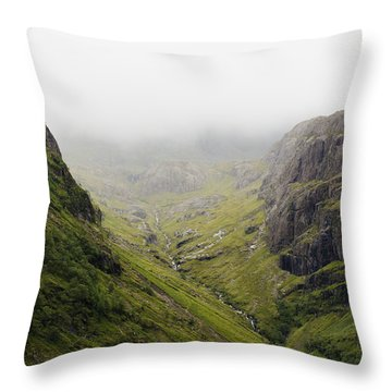 Throw Pillow featuring the photograph The Hills Of Glencoe by Christi Kraft