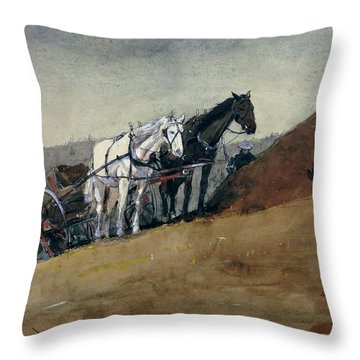 The Hilltop Barn. Houghton Farm Throw Pillow