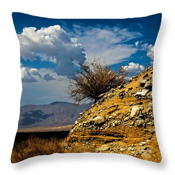 Throw Pillow featuring the photograph The Hilltop by Break The Silhouette