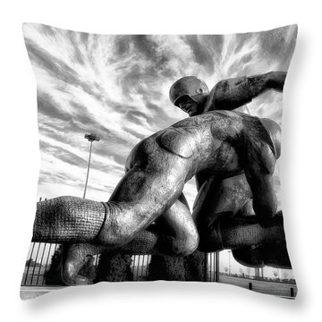 The Hit Throw Pillow by Bill Cannon